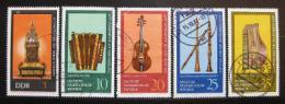 Poštovní známky DDR 1975 Hudební nástroje nekompl Mi# 2055-56,2058-60