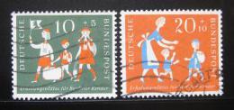 Poštovní známky Nìmecko 1957 Prázdniny Mi# 250-51 Kat 7.50€