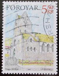 Poštovní známka Faerské ostrovy 2004 Kostel Vágur Mi# 511