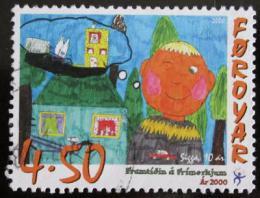 Poštovní známka Faerské ostrovy 2000 Dìtská kresba Mi# 369