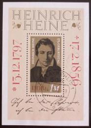 Poštovní známka DDR 1972 Heinrich Heine Mi# Block 37