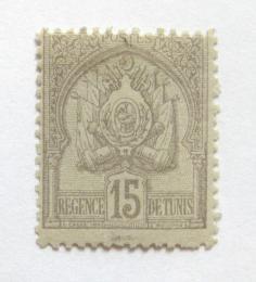 Poštovní známka Tunisko 1901 Státní znak Mi# 22 Kat 10€