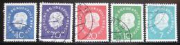 Poštovní známky Západní Berlín 1959 Prezident Heuss Mi# 182-86 Kat 20€