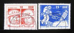 Poštovní známky DDR 1965 Let do vesmíru Mi# 1098-99