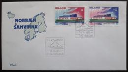 FDC Island 1973 Severská spolupráce NORDEN Mi# 478-79