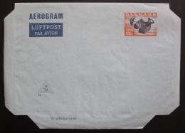 Aerogram Dánsko - letecký dopis