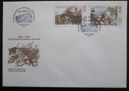 FDC Azory 1981 Bitva o Salgu, 400. výroèí Mi# 343-44