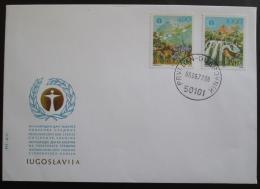 FDC Jugoslávie 1977 Ochrana životního prostøedí Mi# 1689-90