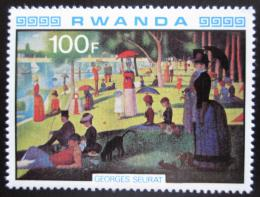 Poštovní známka Rwanda 1980 Umìní, Seurat Mi# 1067