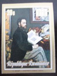 Poštovní známka Rwanda 1973 Umìní, Manet neperf. Mi# 549 B