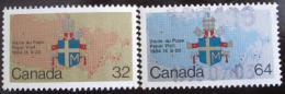 Poštovní známky Kanada 1984 Návštìva papeže Mi# 925-26