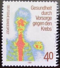 Poštovní známka Nìmecko 1981 Prevence rakoviny Mi# 1089