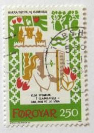 Poštovní známka Faerské ostrovy 1982 Støedovìká balada Mi# 76