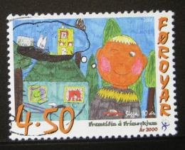 Poštovní známka Faerské ostrovy 2000 Dìtské umìní Mi# 376