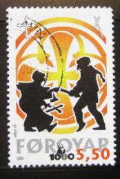 Poštovní známka Faerské ostrovy 2000 Køes�anství Mi# 369