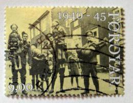 Poštovní známka Faerské ostrovy 2005 Vojáci s dìtmi Mi# 544