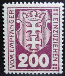 Poštovní známka Danzig 1922 Státní znak, doplatní Mi# 8 Kat 4.50€