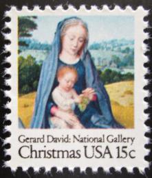 Poštovní známka USA 1979 Vánoce, Umìní, Gerard David Mi# 1402