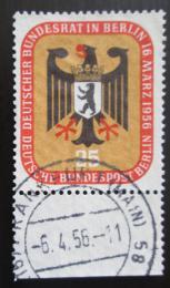 Poštovní známka Západní Berlín 1956 Mìstský znak Mi# 137 Kat 5€