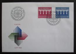FDC Švýcarsko 1984 Evropa CEPT Mi# 1270-71