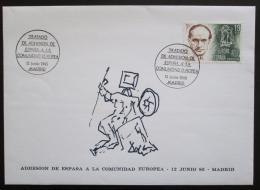 FDC Španìlsko 1985 Vstup do Evropské unie