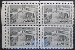 Poštovní známky Kanada 1964 Konference v Charlottetownu ètyøblok Mi# 376