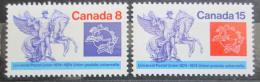 Poštovní známky Kanada 1974 UPU, 100. výroèí Mi# 574-75