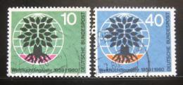 Poštovní známky Nìmecko 1960 Rok uprchlíkù Mi# 326-27