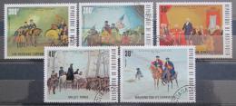 Poštovní známky Horní Volta 1975 Americká revoluce Mi# 569-73