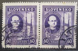 Poštovní známky Slovensko 1939 Jozef Murgaš pár Mi# 46