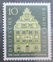 Poštovní známka Nìmecko 1957 Wurttemberský snìm Mi# 279