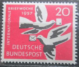 Poštovní známka Nìmecko 1957 Poštovní holubi Mi# 276