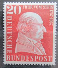 Poštovní známka Nìmecko 1957 Baron vom Stein, státník Mi# 277