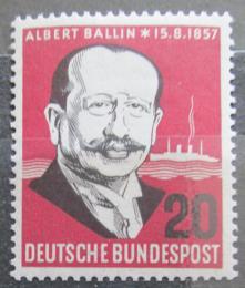 Poštovní známka Nìmecko 1957 Albert Ballin Mi# 266