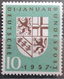 Poštovní známka Nìmecko 1957 Znak Sárska Mi# 249