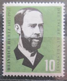 Poštovní známka Nìmecko 1957 Heinrich Herz, lékaø Mi# 252