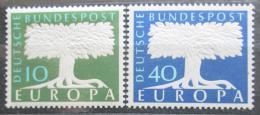 Poštovní známky Nìmecko 1957 Evropa CEPT Mi# 268-69