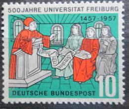 Poštovní známka Nìmecko 1957 Univerzita ve Freiburgu, 500. výroèí Mi# 256