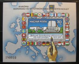 Poštovní známka Maïarsko 1985 Helsinská konference Mi# Block 179