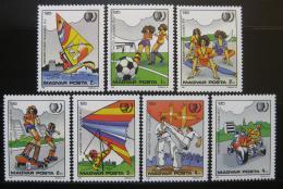 Poštovní známky Maïarsko 1985 Mládež a sport Mi# 3751-57