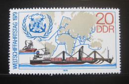 Poštovní známka DDR 1979 Svìtový den lodní dopravy Mi# 2405