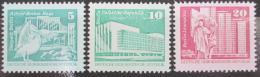 Poštovní známky DDR 1980 Nìmecká výstavba Mi# 2483-85