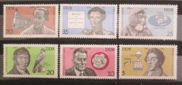 Poštovní známky DDR 1980 Osobnosti Mi# 2492-97