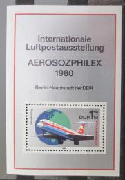 Poštovní známka DDR 1980 Výstava Aerosozphilex Mi# Block 59