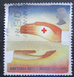 Poštovní známka Velká Británie 1995 Èervený køíž, 125. výroèí Mi# 1571