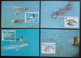 Maxikarty Mauritánie 1986 Tuleò, WWF 037 Mi# 871-74