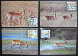 Maxikarty Botswana 1988 Voduška, WWF 068 Mi# 431-34