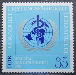 Poštovní známka DDR 1972 Svìtový den zdraví Mi# 1748