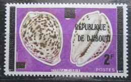 Poštovní známka Džibutsko 1977 Mušle pøetisk Mi# 176