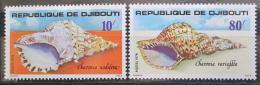 Poštovní známky Džibutsko 1978 Mušle Mi# 229-30